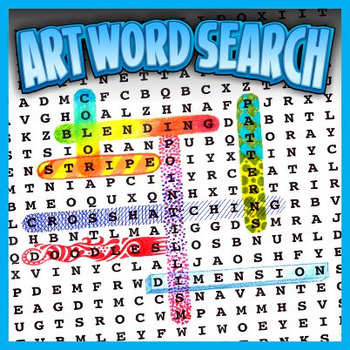 Shading & Blending Art Word Search Puzzles