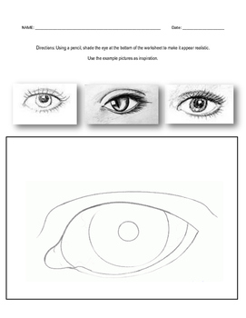 Shading Eye Worksheet