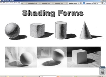 Shading Forms ActiveInspire Flipchart
