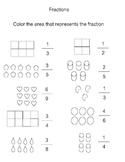Shading Fractions Worksheet