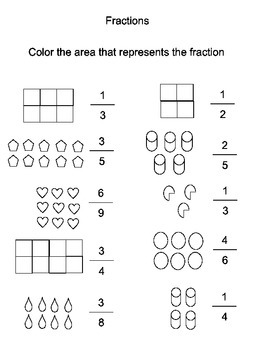 shading fractions worksheet by florida online academy tpt. Black Bedroom Furniture Sets. Home Design Ideas