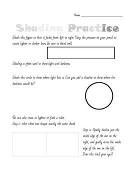 Shading Practice Worksheet
