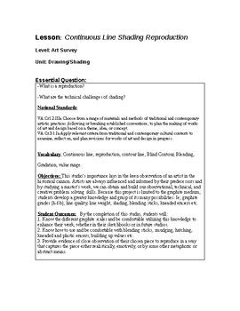 Shading Reproduction Studio Lesson Plan