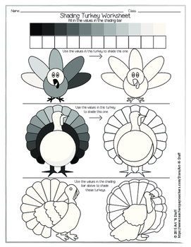 Shading Turkey Worksheet