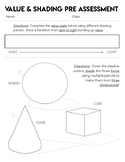 Value Scale Bundle, Shading Worksheet, Assessment, Drawing Pencil