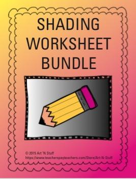 Shading Worksheet Bundle
