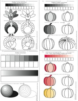 Shading Worksheet Bundle