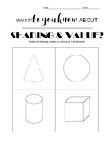 Shading and Value pre-test