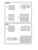 Shading equivalent fractions of shapes