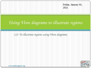Shading regions in Venn diagrams