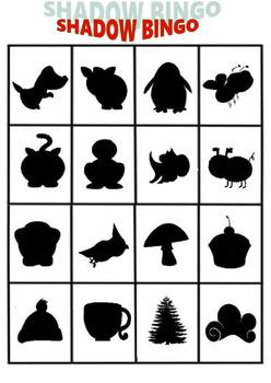image about Bingo Chips Printable identify Shadow Bingo