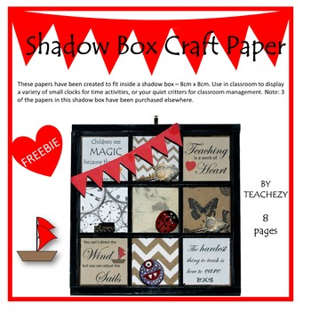 Shadow Box Craft Papers