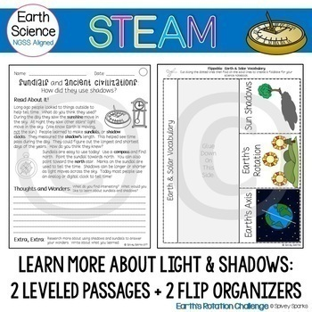 Shadow Catcher: Solar STEAM and STEM Challenge NGSS 5-ESS1-2 1-ESS1-1