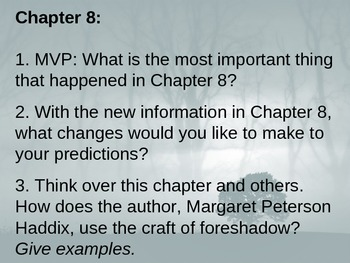 Among the Hidden - Journal Response Questions - Margaret Peterson Haddix