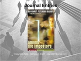 Among the Impostors - Journal Response Questions - Margaret Peterson Haddix