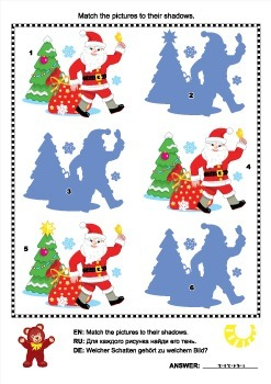 Shadow Game with Santa Claus, Commercial Use Allowed
