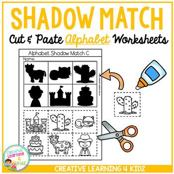 Shadow Matching Alphabet Cut & Paste Worksheets