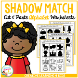 Shadow Matching Alphabet Cut & Paste Worksheets