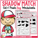 Shadow Matching Bug Cut & Paste Worksheets