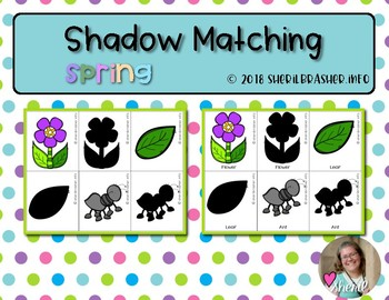 Shadow Matching Cards | Spring |