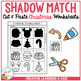 Shadow Matching Christmas Cut & Paste Worksheets