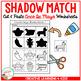 Shadow Matching Cinco De Mayo Cut & Paste Worksheets