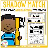 Shadow Matching Dental Health Cut & Paste Worksheets