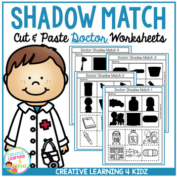 Shadow Matching Doctor Cut & Paste Worksheets