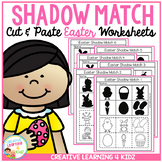 Shadow Matching Easter Cut & Paste Worksheets