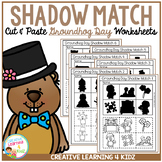 Shadow Matching Groundhog Day Cut & Paste Worksheets