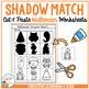 Shadow Matching Halloween Cut & Paste Worksheets