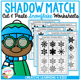 Shadow Matching Snowflake Cut & Paste Worksheets