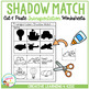 Shadow Matching Transportation Cut & Paste Worksheets