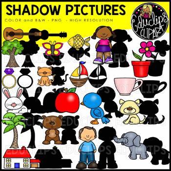 Shadow Pictures Clip Art Bundle {Educlips Clipart}