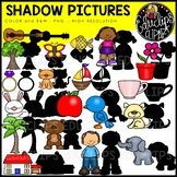 Shadow Pictures Clip Art Bundle {Educlips Clipart}
