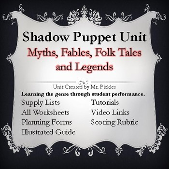 Shadow Puppet Unit - Aesop's Fables, Folk Tales and Mythology