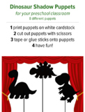 Shadow Puppets Dinosaur, preschool music activity, pretend play
