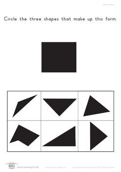 Shadow Shapes (Visual Perception Worksheets)