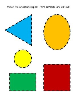 Shadow Shapes!  Quick Center:  Math