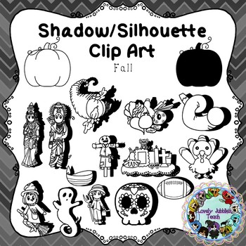 Shadow/Silhouette Clip Art: Fall Themed