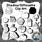 Shadow/Silhouette Clip Art: Food