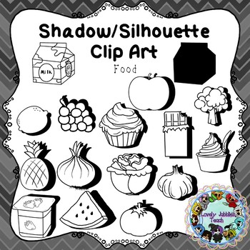 Shadow/Silhouette Clip Art: Food