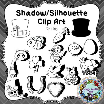 Shadow/Silhouette Clip Art: Spring Themed