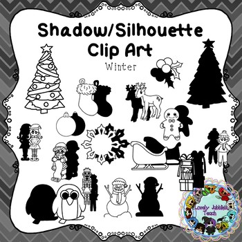 Shadow/Silhouette Clip Art: Winter Themed