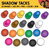 Shadow Tack Clipart