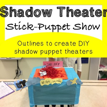 Shadow Theatre Stick Puppet Outline Planner *Fun Drama Activity*