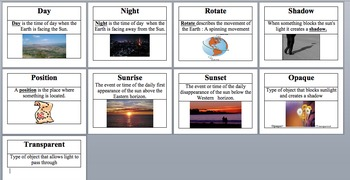 Shadow Vocabulary Cards