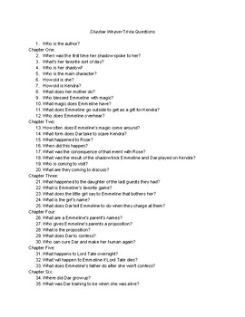 Shadow Weaver Trivia Questions