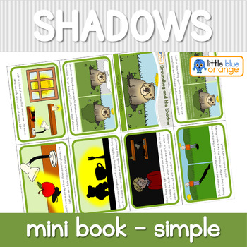 Groundhog and His Shadow - Shadow mini book (simplified version)