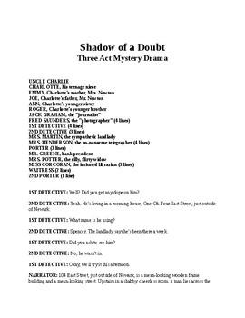 Shadow of Doubt - Three Act Mystery Drama
